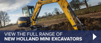 View the full range of New Holland mini excavators here